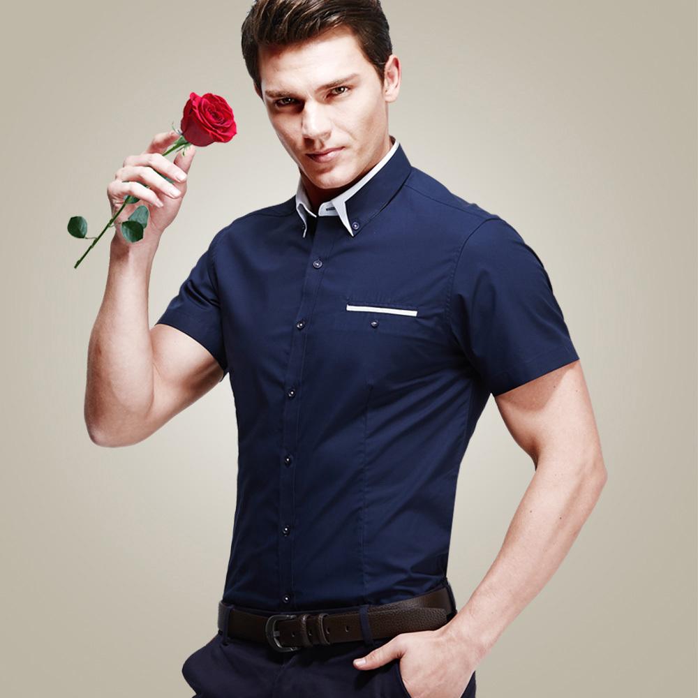Short Sleeve Dress Shirts For Men Cocktail Dresses 2016