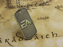 2015 Men Jewelry BF4 Battlefield 4 Dog Tag Military card Pendant Necklace Free Shipping Wholesale