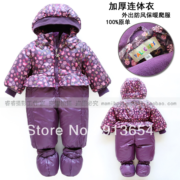 2013 new year Fashion autumn winter romper baby clothing baby girl princess cotton rompers newborn print flowers lovely overalls