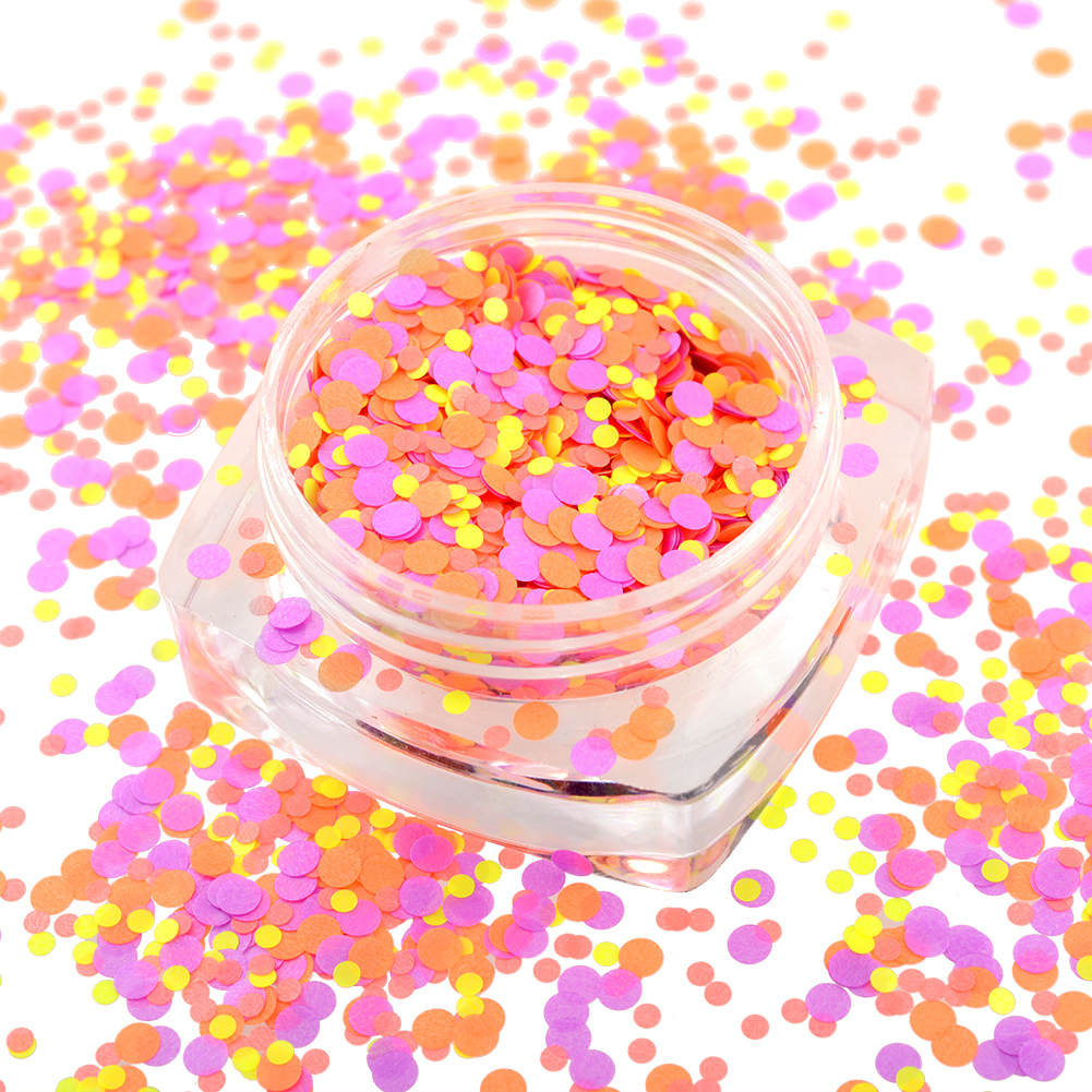 New Multicolor Mixed Mini Round Nail Art Tips Glitter Paillette Decoration No.25 free shipping(China (Mainland))