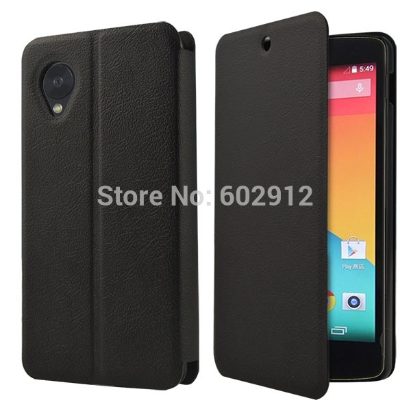 2016 New Arrival Black Folio Wallet Leather Flip Case Fashion Case For LG Google Nexus 5 Case Cover For LG Nexus 5 Cover(China (Mainland))