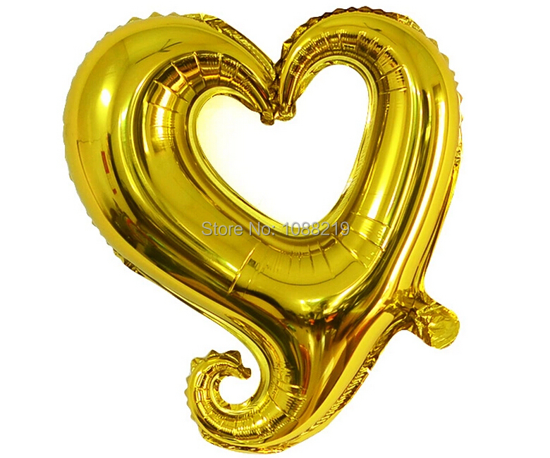 10pcs/Lot Foil Balloon 18-Inch Heart-Shaped Balloon Wedding Birthday Party Decorations Helium Foil Balloons(China (Mainland))