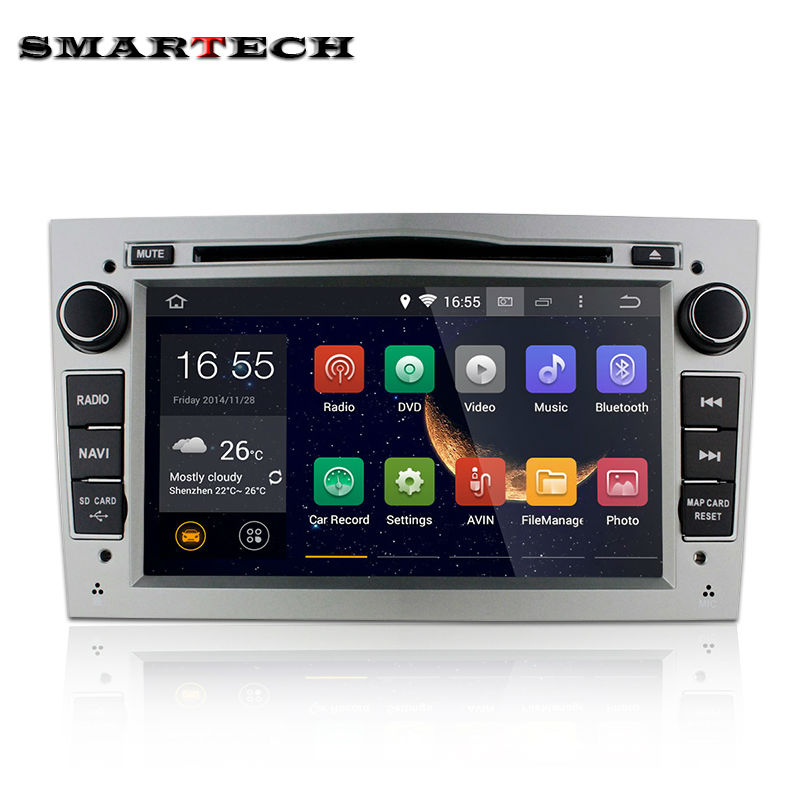 double din touch screen car stereo for opel astra h zafira vectra Corsa Zafira 7 inch 1024*600 Android 4.4.4 head unit car radio<br><br>Aliexpress