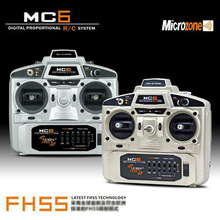 MC6 2.4Ghz 6 CH Radio control for Drone glider fixed wing helicopter rc ship transmitter and receiver inside antenna