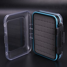 Top Quality 2 Pieces Fly Fishing Box Double Side Design Open Waterproof Fly Box Small Portable Fishing Tackle Box(China (Mainland))