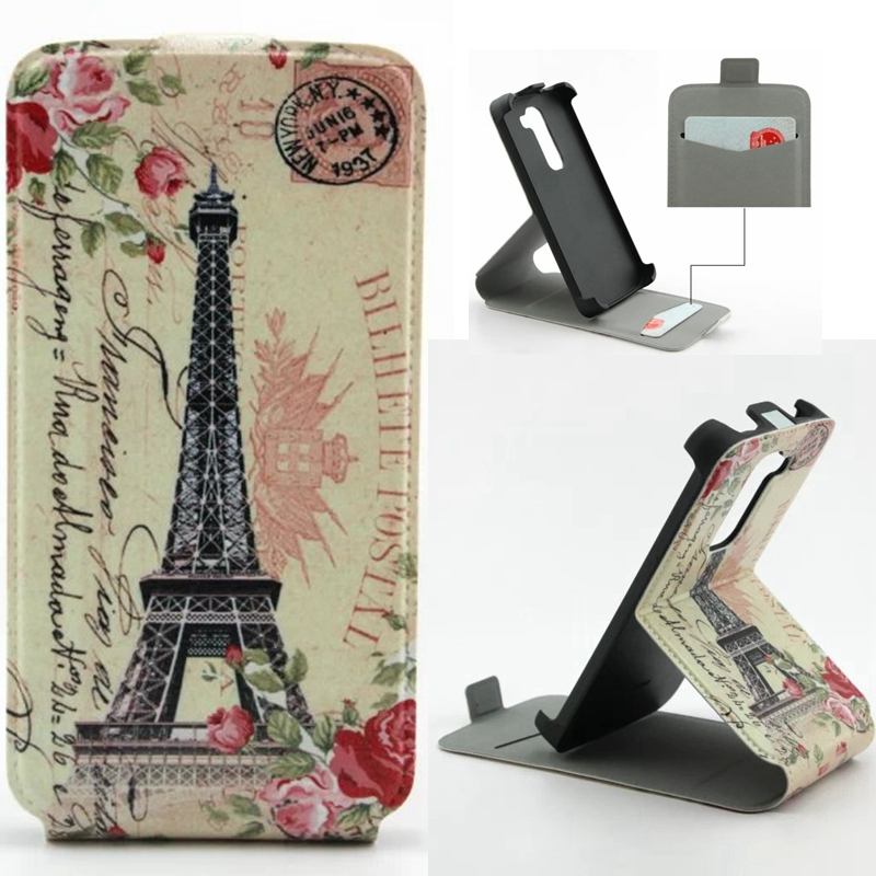 G2mini Case Colorful Pattern Vertical Leather Card Holder Cover Stand LG G2 Mini D610 D618 D620 Phone Back cover - NUOCD-tech Store store