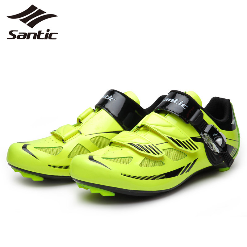 SANTIC Cycling Shoes For Men Nylon TPU Breathable Casual Athletic Self-Locking Outdoor Sports Triathlon Road Bicycle Bike Shoes<br><br>Aliexpress