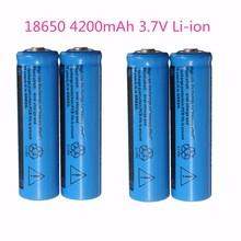 High Quality 4200mAh 3.7V 18650 Lithium Li-ion Rechargeable Battery Cells universal for Power Bank Kit LED Flashlight Headlamp(China (Mainland))