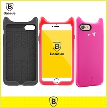 Original Baseus For Iphone 7/7 Plus Case Silicone Cartoon Cute Devil Funny Mobile Phone Bags Case for iphone 7/7 plus Back Cover