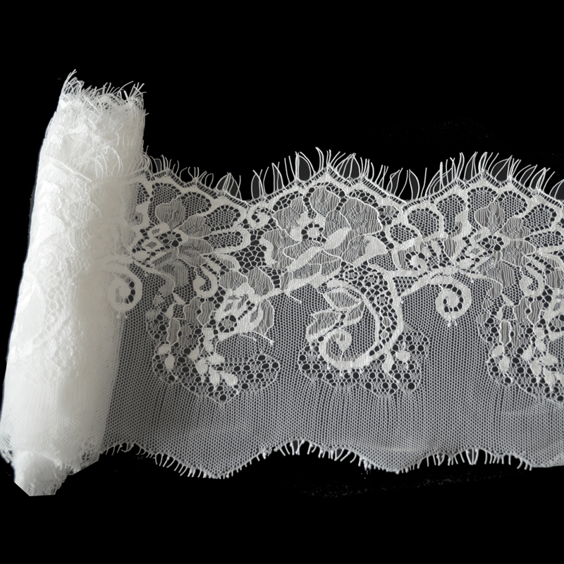 (14cm Wide) DIY Net Lace Trim Clothes Accessories Voile Guipure tulle Eyelash Embroidery Mesh Lace Ribbon Sewing Supplies(China (Mainland))