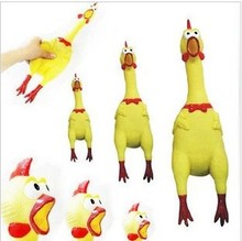 Pet sound toys screaming chicken shrieking chicken screaming chicken free shipping(China (Mainland))