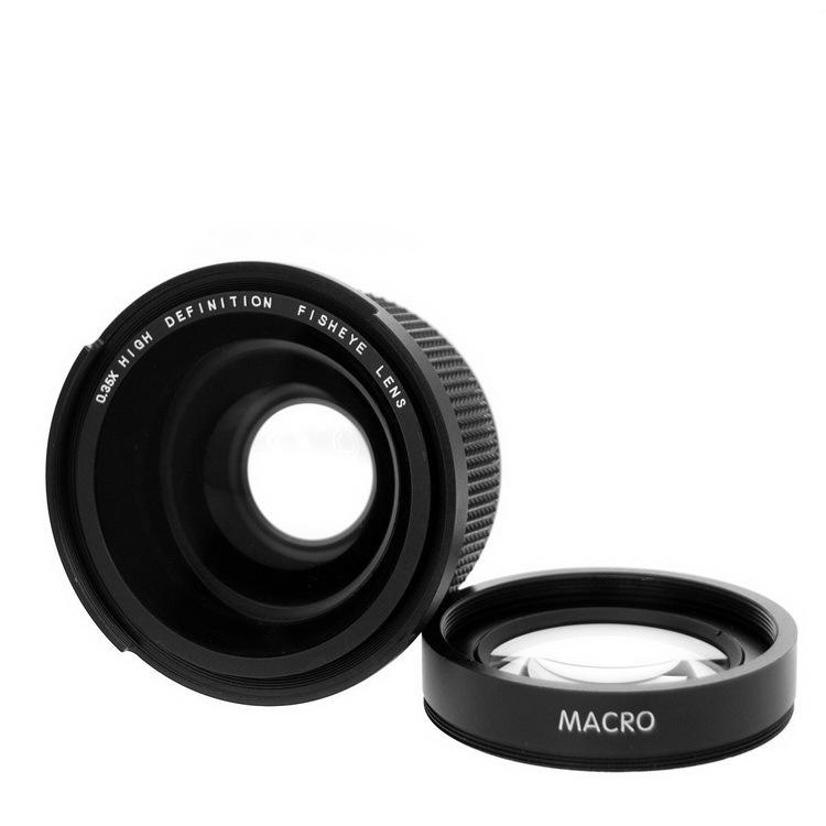 ถูก Lightdow 58มิลลิเมตร0.35Xปลาตาซูเปอร์มุมกว้างFisheyeเลนส์สำหรับCanon Nikon Sony DSLR