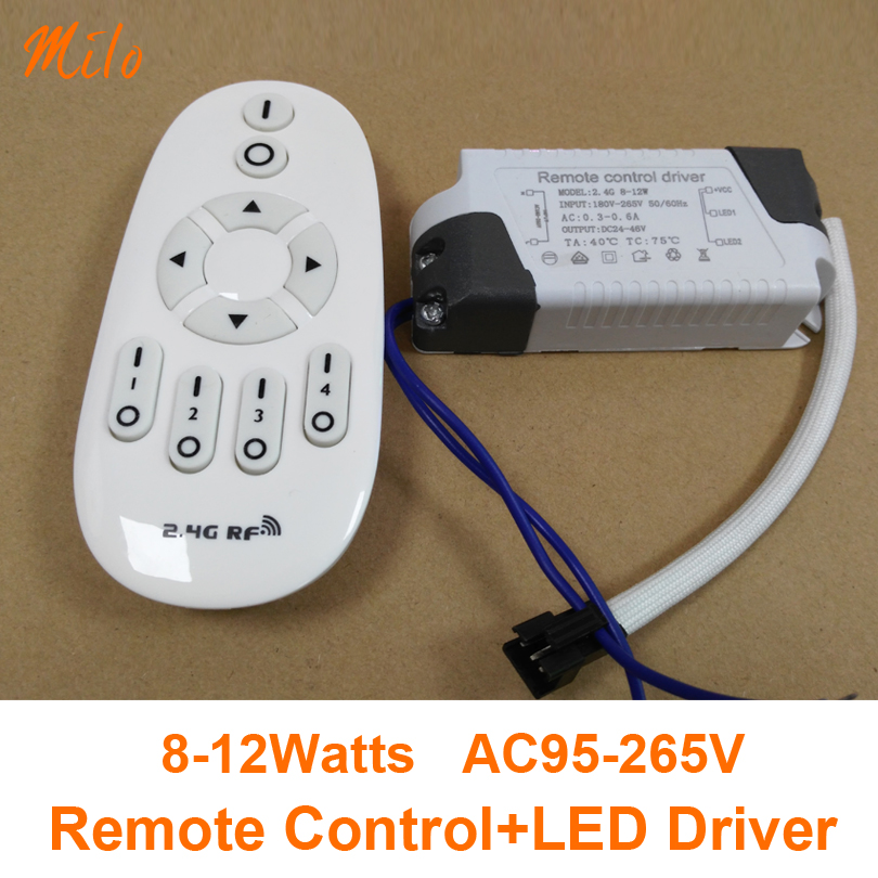 (Remote control+Driver) 8-12W Remote control LED driver,Change colors and dimming,Input:AC95-265V,50/60Hz. Output:DC24-46V,300mA(China (Mainland))