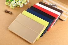 For ipad Air /air2 / Mini 1 2 3 Smart Luxury PU Leather and PC Plastic Case Tablet Cases Stand Cover 6 Color Available(China (Mainland))