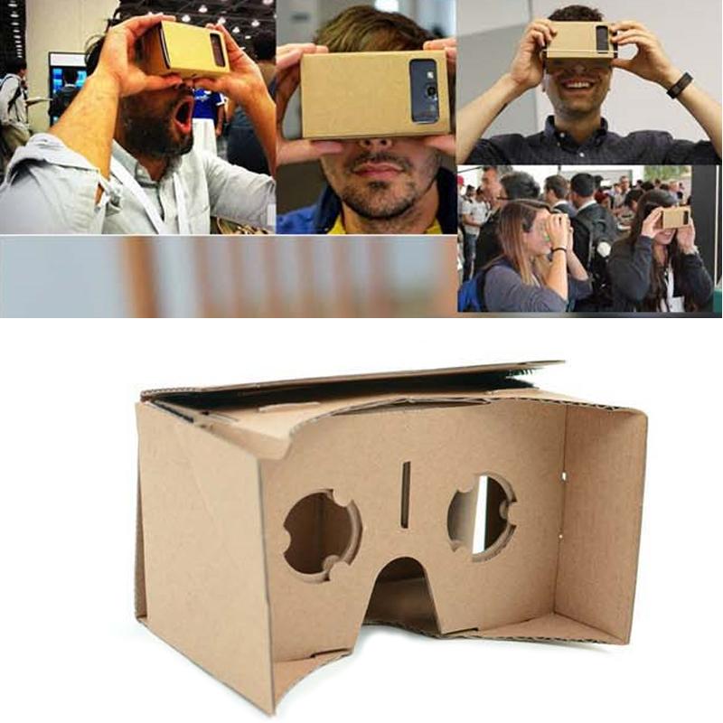 "HOT SALE! Google Cardboard DIY VR Gadgets VR Box Virtual Reality 3D Movie Game Glasses PK Oculus Rift For 3.5-5.0"" Mobilephone(China (Mainland))"