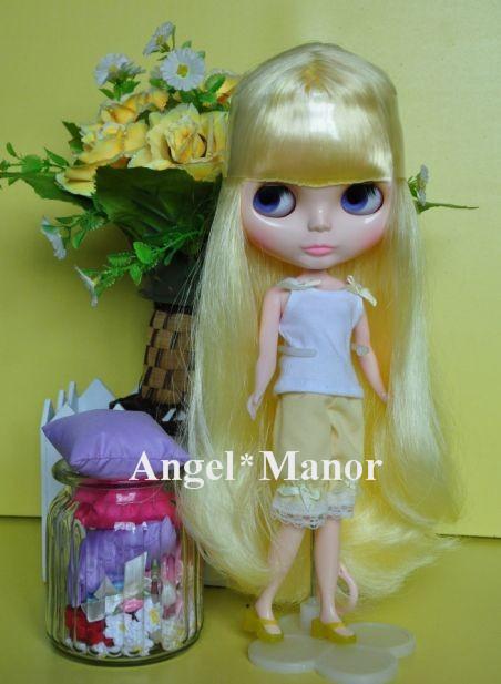 Nude Blyth Doll, yellow5  long hair, big eye doll,Fashion doll Suitable For DIY Change BJD , For Girls Gift,PH005<br><br>Aliexpress
