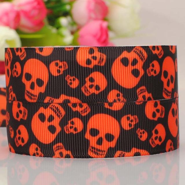 "20Y 7/8""22mm new  pattern Halloween ribbon cartoon  printed grosgrain ribbon  DIY ployester ribbon"