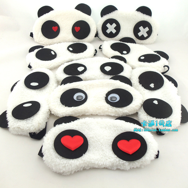 Lovely carton panda sleeping cover eye mask korean fashionable brand