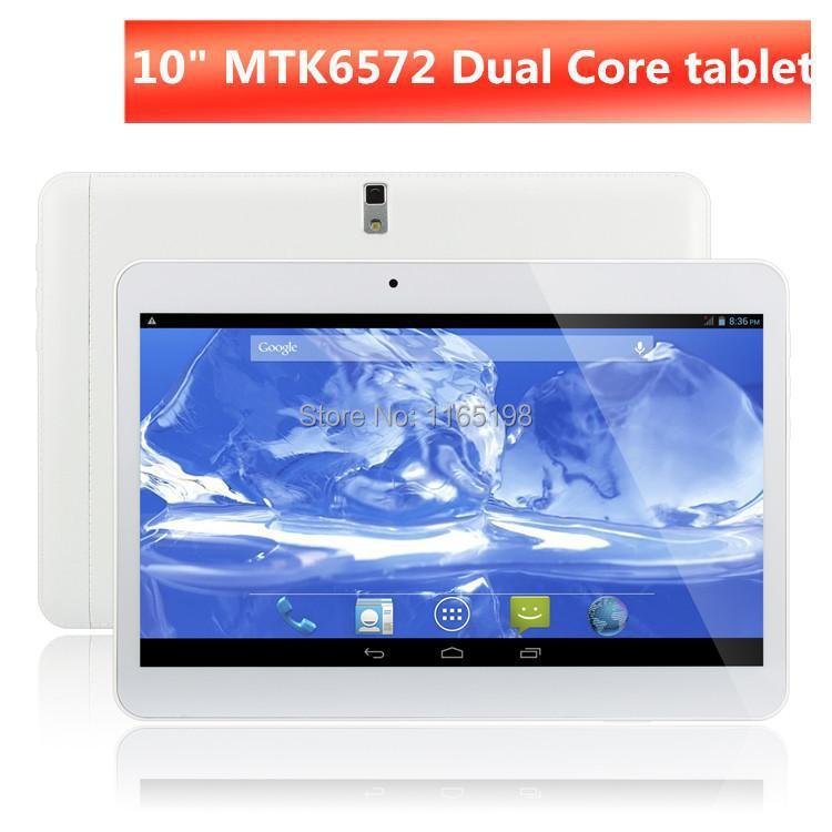 10 inch Dual Core Android 4.4 3G Phone Call Tablet PC MTK6572 Dual Camera 1024*600 Dual SIM 1GB+8GB Bluetooth OTG FM GPS WIFI(China (Mainland))