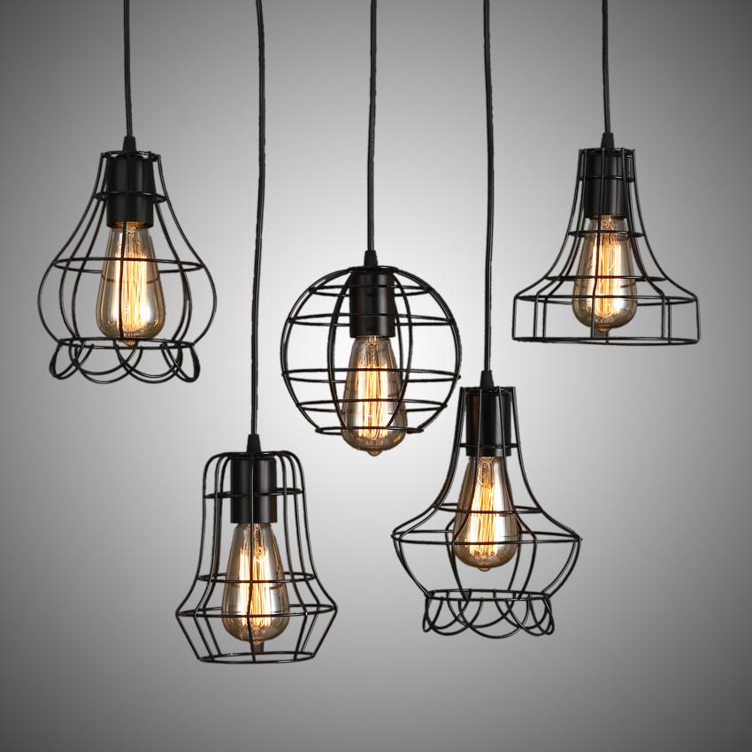 acheter classique 110 220 v de pays d 39 am rique r tro loft lampe suspension de. Black Bedroom Furniture Sets. Home Design Ideas