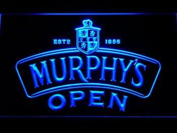 062-b Murphy's Beer OPEN Bar LED Neon Light Sign