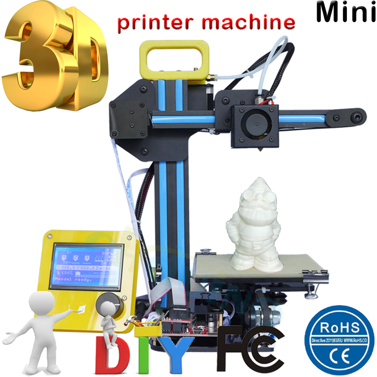 Free shipping to USA, Latest Technology Mini 3d printer high Efficiency high precision Portable 3d Printing Only 4.8KG weight(China (Mainland))