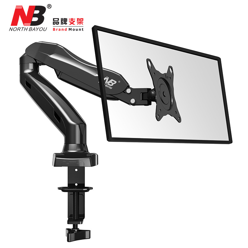 F80 Height Adjustable Double Arm Within 27 inch Dual Monitor Holder 360 Degree Rotatable Desktop Dual Monitor Stand