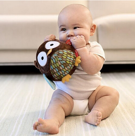 2015 Year Up to date Baby Toy skipping Plush Baby Stroller Ornaments Rattles Toy Children Of Pendant Christmas Gift 20025(China (Mainland))