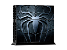 ps4 skin PVC Super Spider Protection Skin Cover Case Sticker For Sony PS4 System Playstation 4 Console+2 Controller