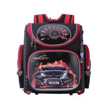 NEW 2016 Cartoon Red Racing School Bag Boys Orthopedic Backpack Children Satchel Elementary School Backpack for Boys Grade 1-4(China (Mainland))