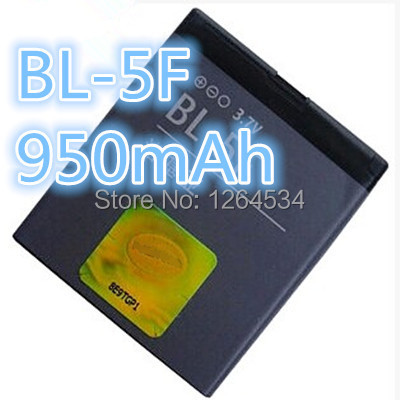 Mobile phone C5-01 E62 E65 N95 N96N93I N98 N99 X5-00 X5-01 6120SI 6710N 6210S 6260S 6290 6710 New original phone battery BL-5F(China (Mainland))
