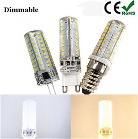 1pc E14/G4/G9 SMD3014 AC220V led corn bulb lights dimmable 72LED LED Corn Bulb Christmas Chandelier Candle Lighting(China (Mainland))