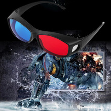 Universal Type TV Movie Dimensional Anaglyph Video Frame Glasses DVD Game Anaglyph 3D Plastic Glasses New Reading Glasses Hot(China (Mainland))