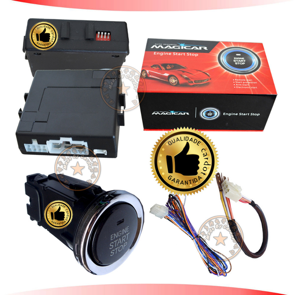 cardot auto push button stop start system engine start by long start button or alarm remote OEM remote key,with auto anti-theft(China (Mainland))