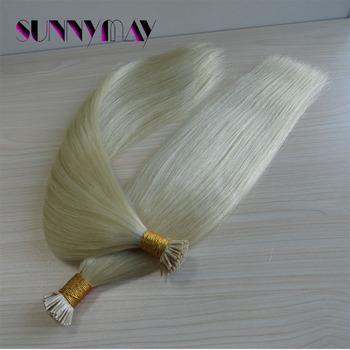 """Sunnymay 8-30 """"#613 Блондинка 1 г Индийский Девственные Волосы Я Кончиком Прямо Предварительно Таможенный Палки совет Наращивание Волос Для Белых Женщин"""