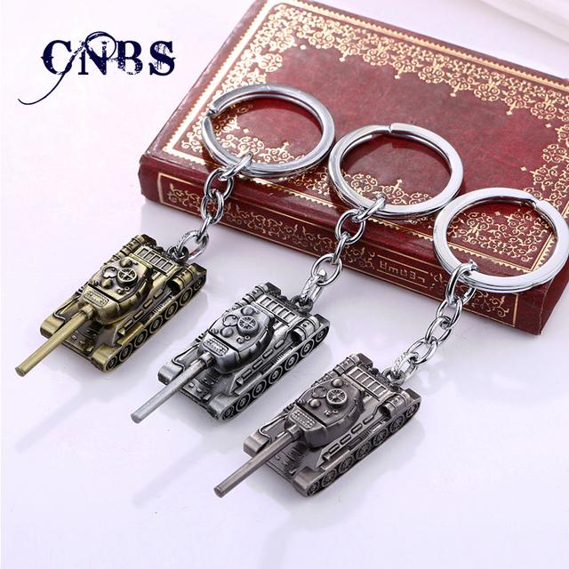 3 цветов 3D мир танков металлический ключ кольца для подарка Chaveiro автомобиль ...