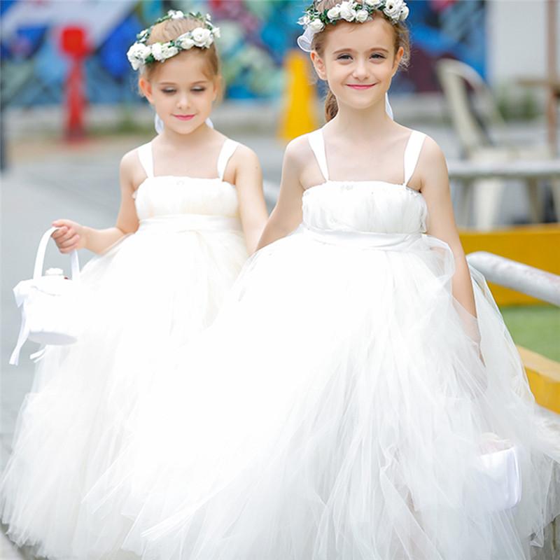 2-14Y Cute Girl Dress Hem Trailing Kids Party Pageant Wedding Bridesmaid Mesh Tulle Tutu Dresses Birthday Ball Gown Custom<br><br>Aliexpress