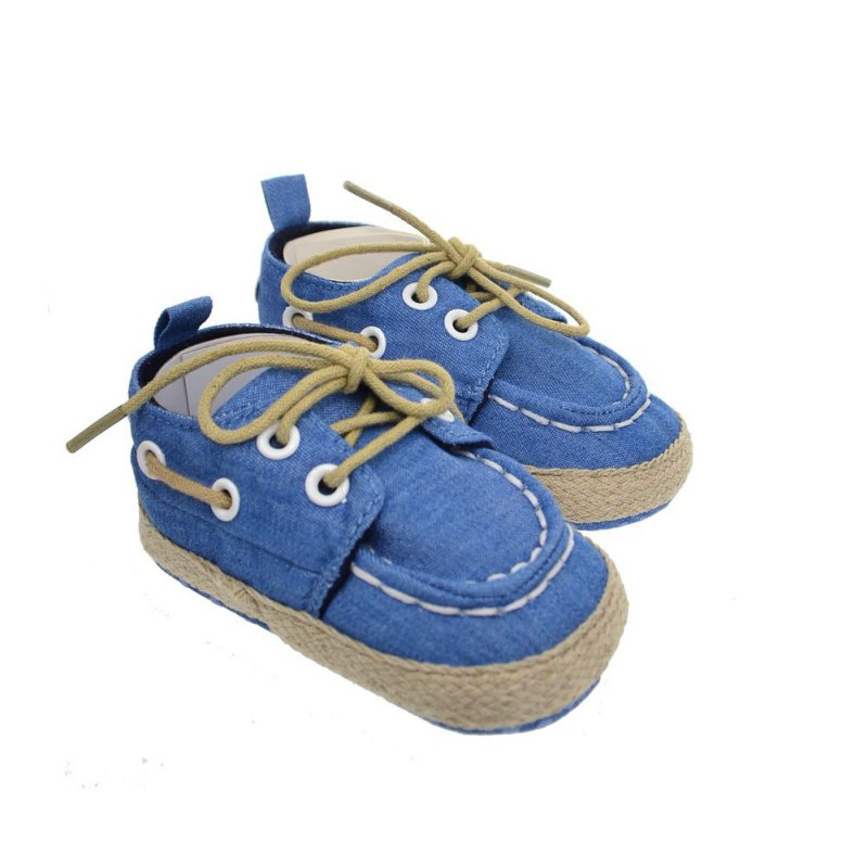 New Toddler Boy Girl Soft Sole Crib Shoes Laces Sneaker Baby Shoes First Walkers