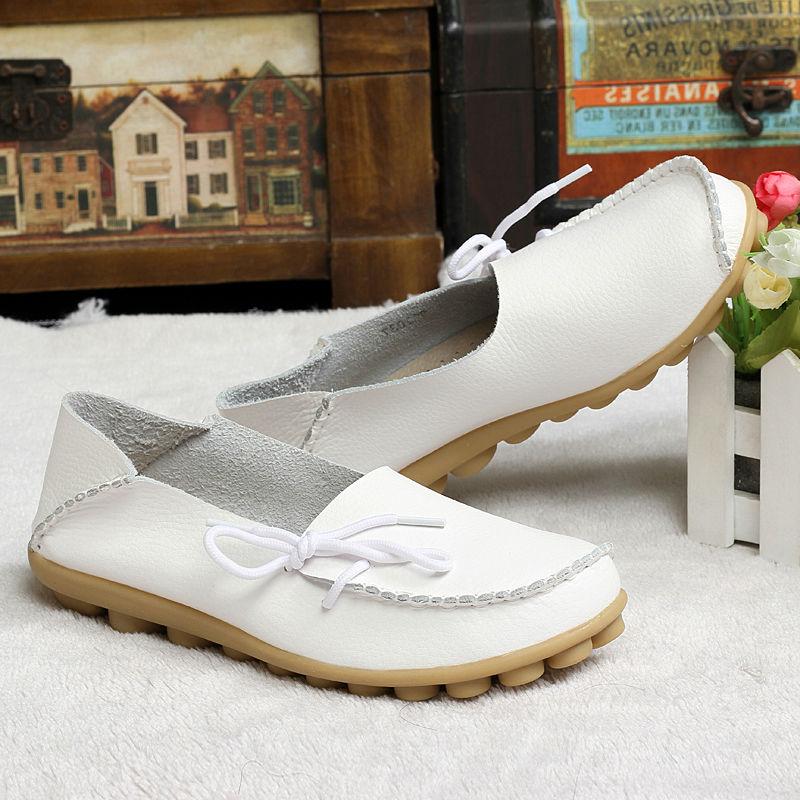 Новый женский настоящее кожи мокасины мать мокасины мягкие досуг квартиры женщина за рулем свободного покроя размер обуви 35 - 42 в 15 цветах