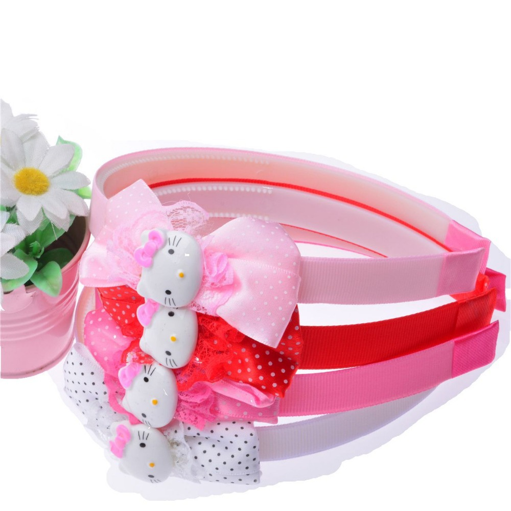 hello kitty Headwear 6 Colors Hair Accessories Cute Cat Band Small Cat Headband for Children Kitty Styling Tools Headwear(China (Mainland))