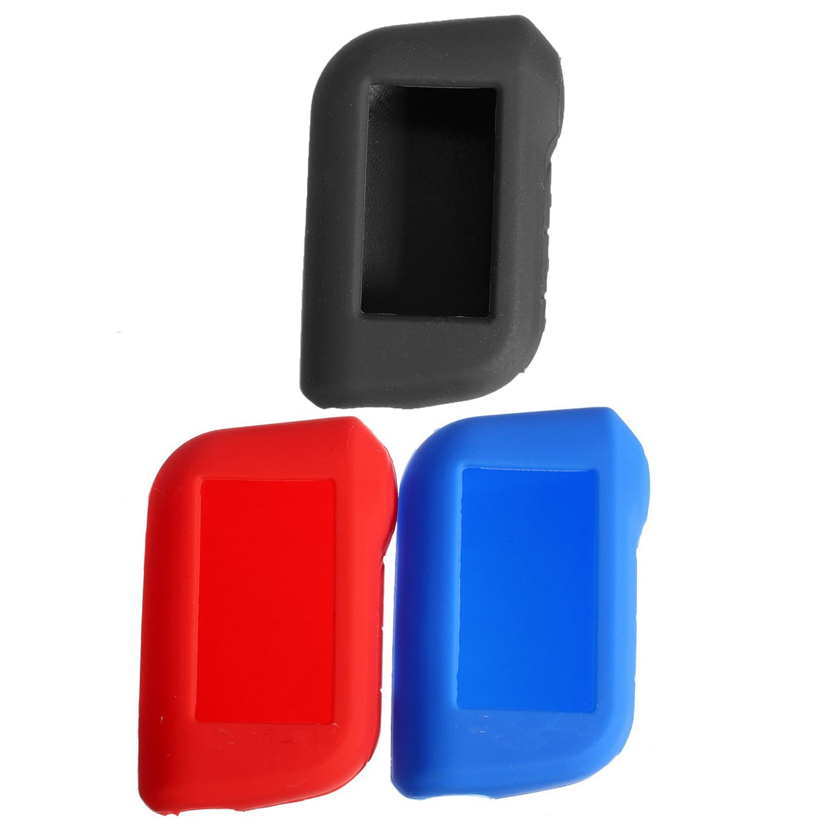 2015 New car key cover starline A93 silicone case for A63/A93 two way car alarm system LCD remote<br><br>Aliexpress