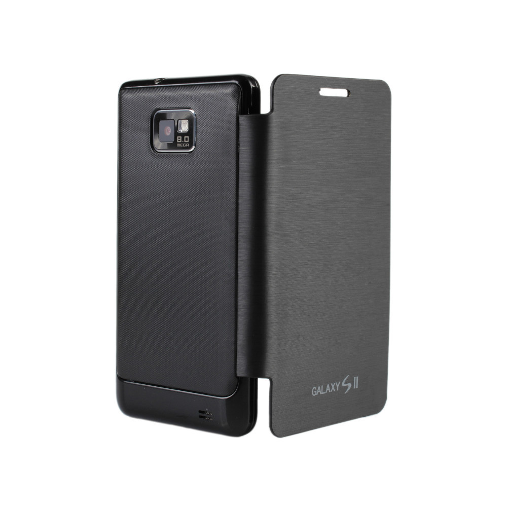 For Samsung Galaxy S2 i9100 ultra-thin Case Flip Battery Housing Cover Copy original Shell with Black + free shipping(China (Mainland))