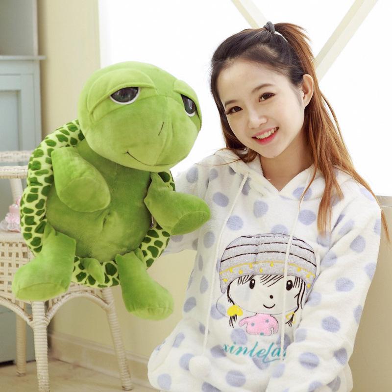 40CM/60CM Big Tortoise Cartoon Plush Toys Lovely Designed Good Quality PP Cotton Soft Stuffed Animal Turtle Toy For Sale(China (Mainland))