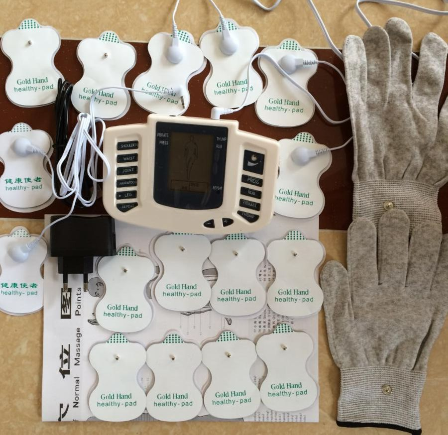 JR309 Health Care Electrical Muscle Stimulator Massage Tens Acupuncture Therapy Machine Slimming Body Massager 16pcs pads+gloves  JR309 Health Care Electrical Muscle Stimulator Massage Tens Acupuncture Therapy Machine Slimming Body Massager 16pcs pads+gloves