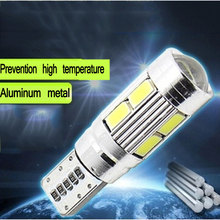 New 6 /pcs White LED T10 SMD Clearance modulation 12v 5W  Meter Lamp Unique Work With Lens  Accessories(China (Mainland))