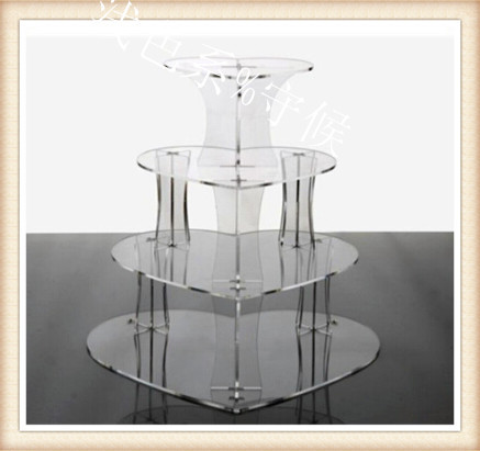 / 4 Tier heart shape unique Layout Beautiful grace Acrylic Cupcake Stand Party / Wedding / Festival Supplies(China (Mainland))