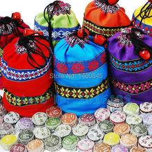 Free Shipping! Kinds Flavor Pu er tea, Pu'er tea, Mini Yunnan Puer tea ,Chinese tea, With Gift Bag