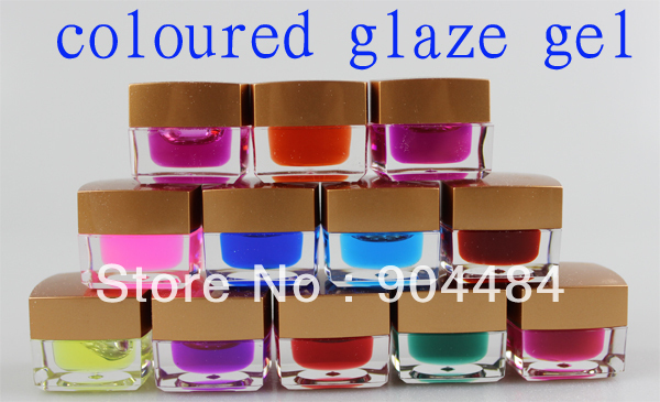 Excellent 12colors Coloured Glaze Gel 8ml/pcs High Quality Pro UV Nail Art Salon Beauty Product Supplier Wholesale 508(China (Mainland))