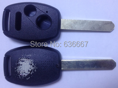 KL49 Replacement Keyless Remote Key Fob Shell Uncut Blade 3 Buttons For Honda Black car key blank(China (Mainland))