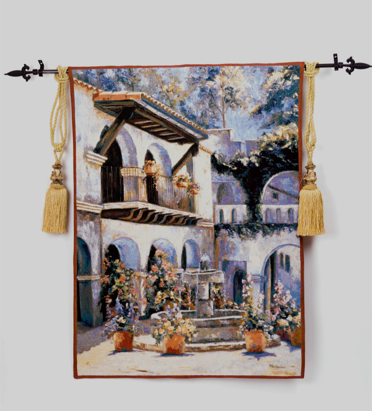 New design high quality 100% cotton JacquardTapestry fashion wall hangings entranceway paintings decorative painting(China (Mainland))
